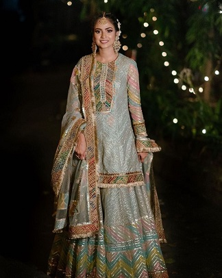 Rimple and Harpreet Narula   Sharara Suit   First Lohri outfit