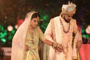 real indian bride , lehenga , Pastel choker | Destination wedding, intimate wedding | wedding in Lucknow | pastel yellow bridal lehenga