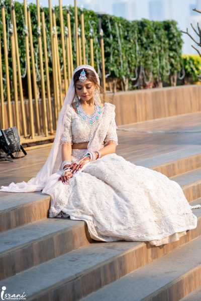 white wedding lehenga