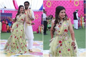 belted lehenga | pastel brides |wedding trends | bridal trends