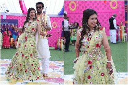 belted lehenga | pastel brides |wedding trends | bridal trends