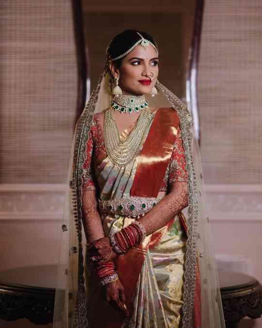 posing | wedding saree | kanjivaram sarees