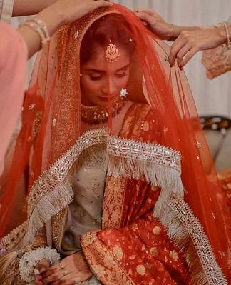 Kiran on dupatta border for your bridal designer lehenga