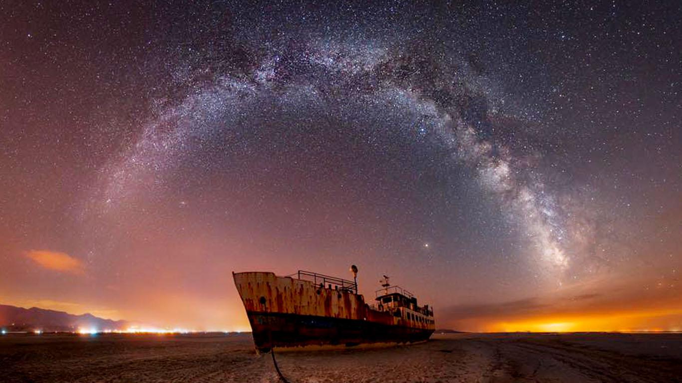 Lake Urmia Iran sharafkhaneh