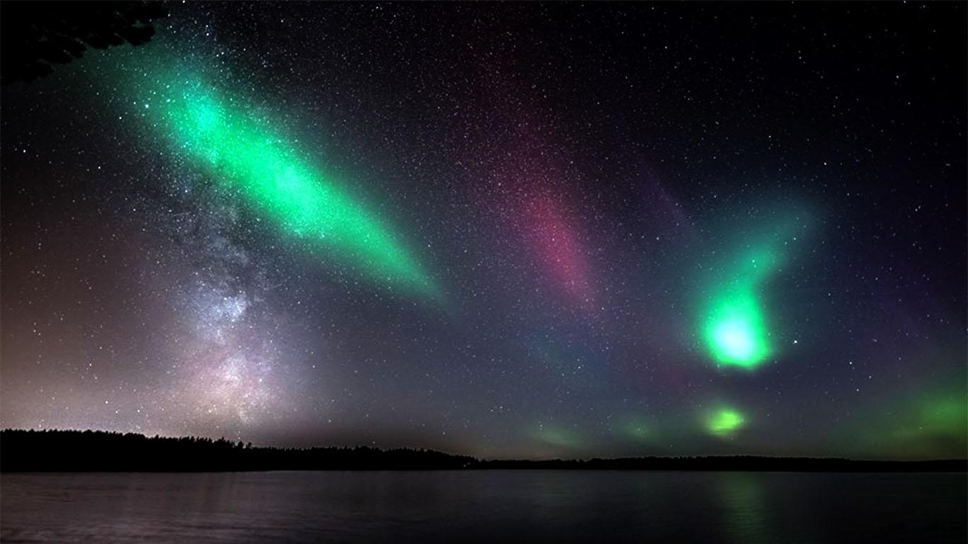 aurora lights Southern Finland