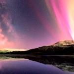 Senja Lovatnet Lake Norway Aurora Milky Way