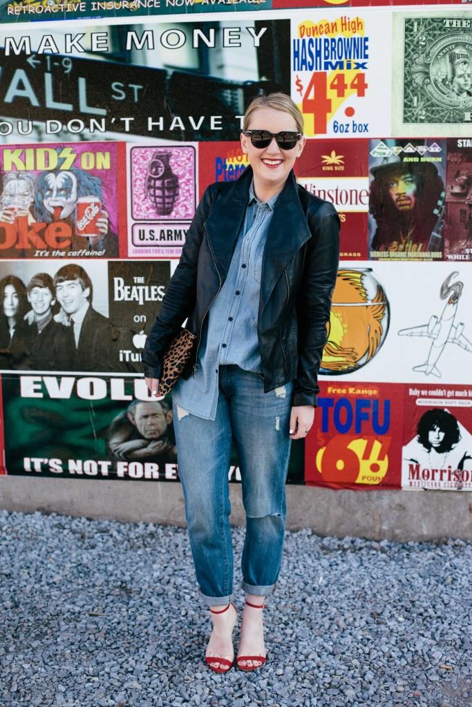 Meghan Donovan I how to style boyfriend jeans