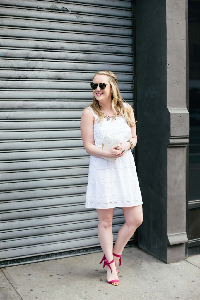 wit & whimsy I little white dress