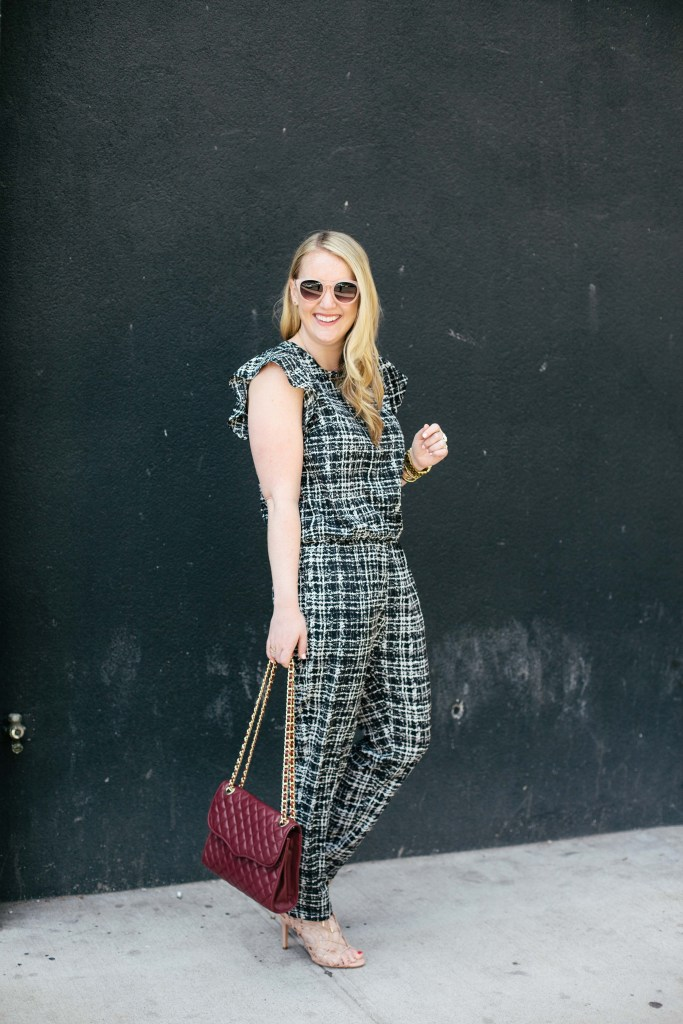 wit & whimsy I plaid jumpsuit