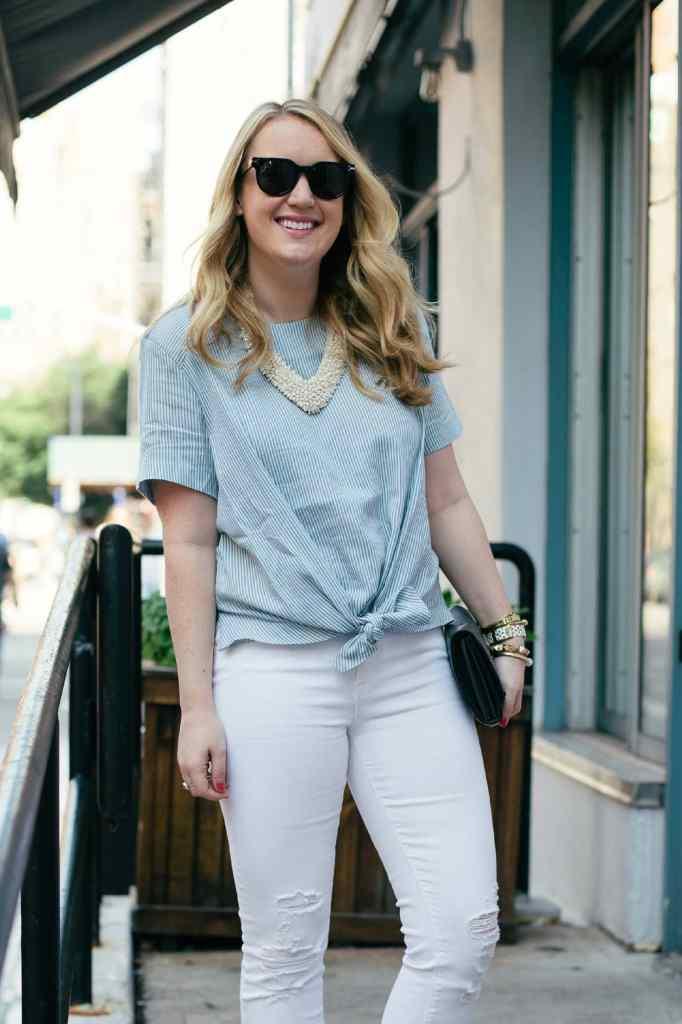 wit & whimsy I j brand white jeans