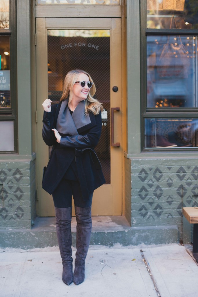 Gray Over the Knee Boots I wit & whimsy