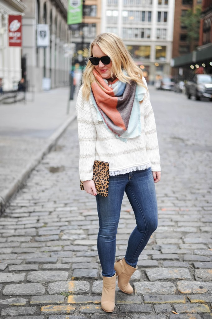 Madewell Sweater I Zara Scarf I wit & whimsy