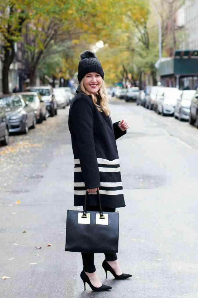 Contrast Stripe Coat I Meghan Donovan