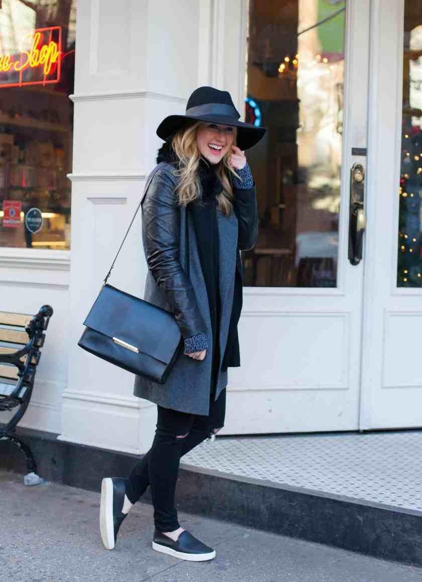 Vince Coat I Celine Bag I J Brand Jeans