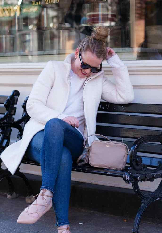 Everlane Chunky Knit I LOFT White Coat