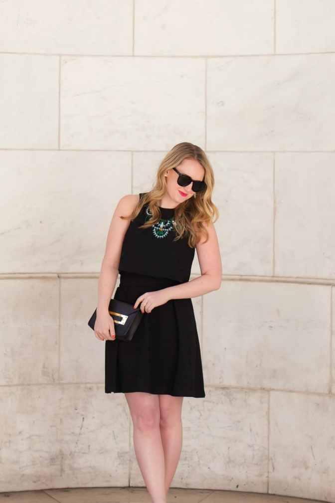 Two Piece Little Black Dress