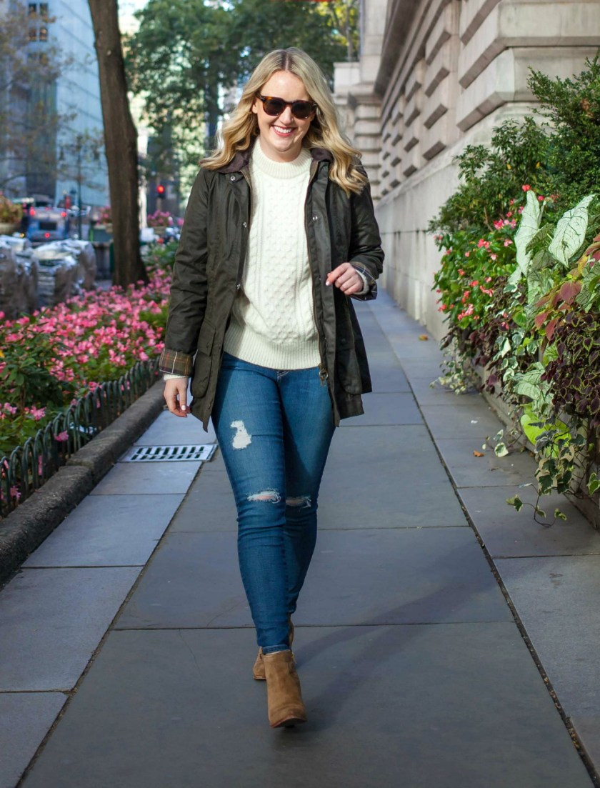 Cable Knit Sweater on Meghan Donovan of wit & whimsy lifestyle blog