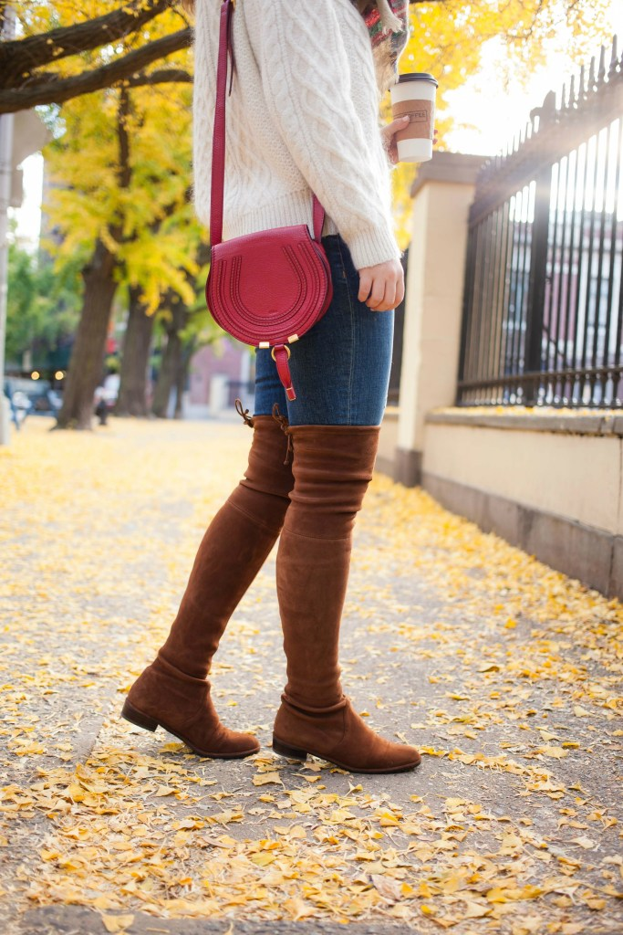 Stuart Weitzman Lowland Boots on wit & whimsy blogger Meghan Donovan
