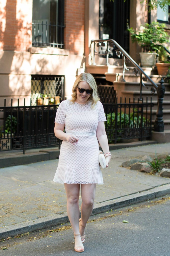 Lace and Mesh Drop Waist Dress on wit & whimsy's Meghan Donovan