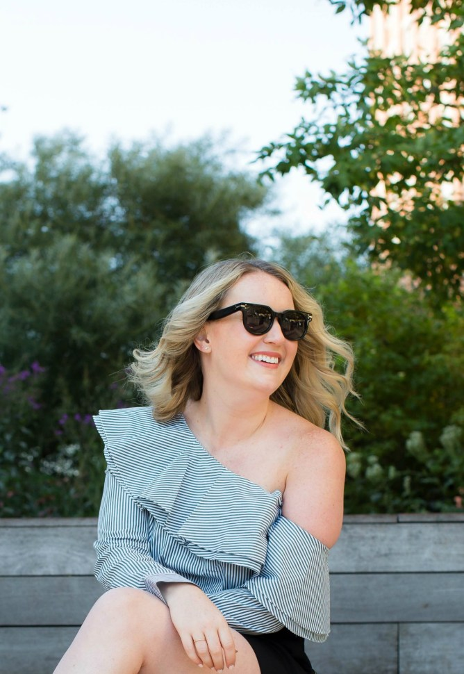 Meghan Donovan of wit & whimsy wears Club Monaco