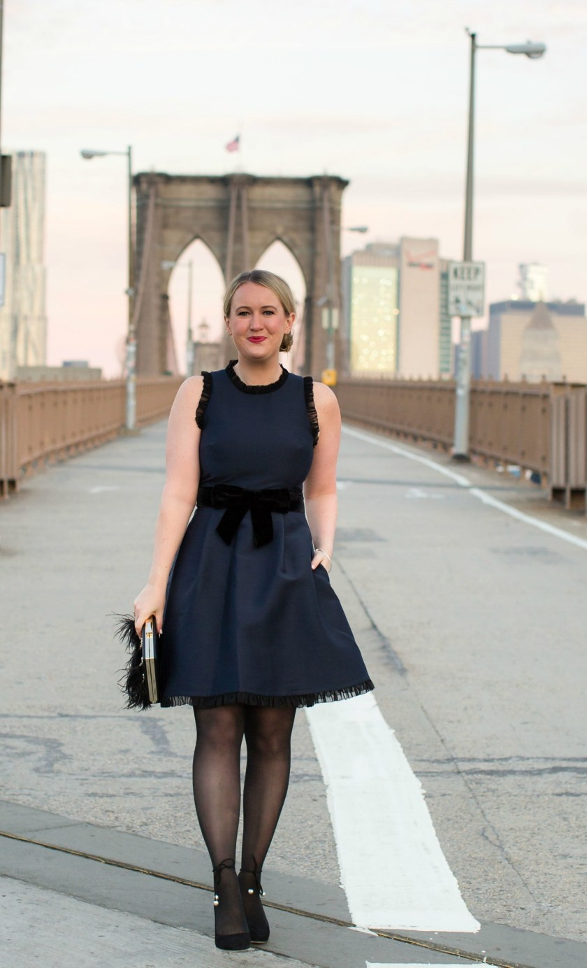 Meghan Donovan of wit & whimsy wears a Kate Spade Holiday Dress