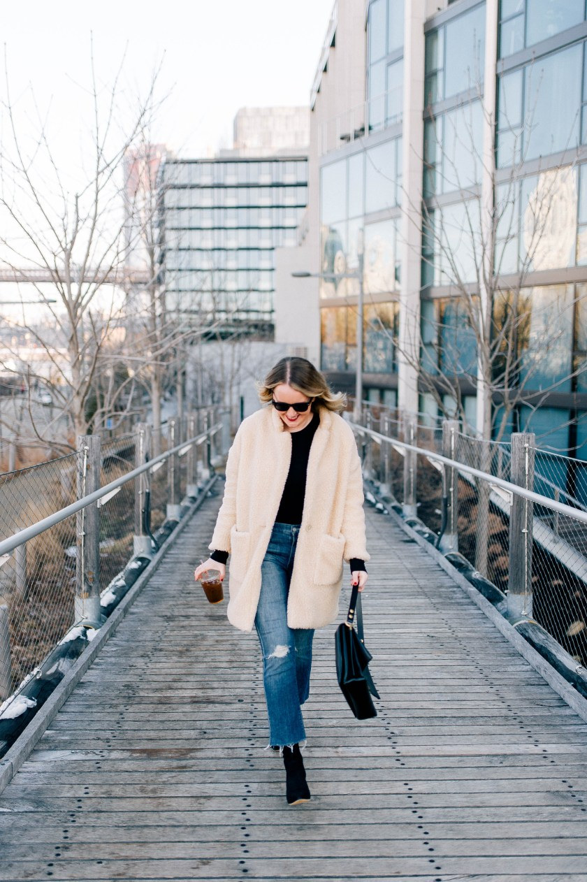 Teddy Coat and Kick Flares on Meghan Donovan of wit & whimsy 6