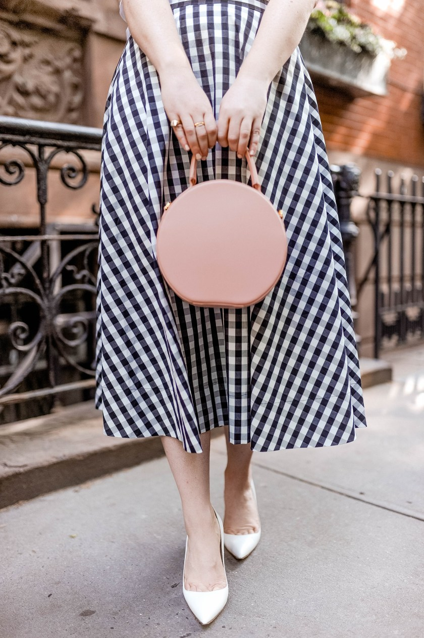 Mansur Gavriel Circle Bag worn by wit & whimsy's Meghan Donovan