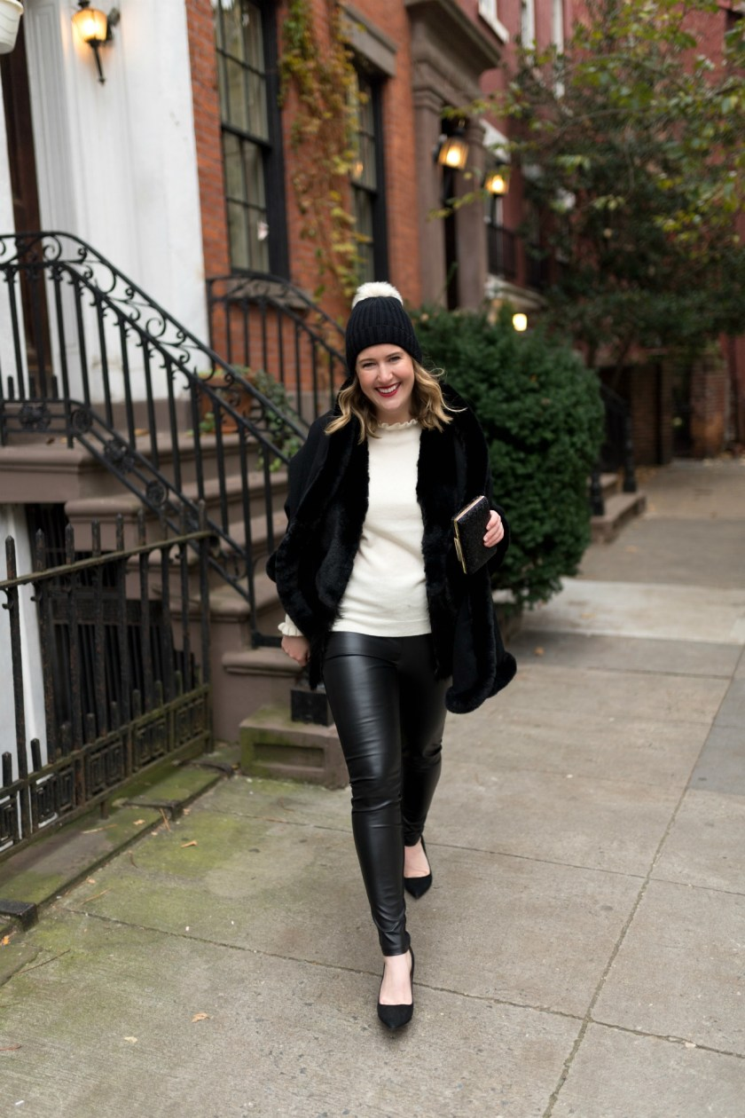 Dressing up faux leather leggings I wit & whimsy