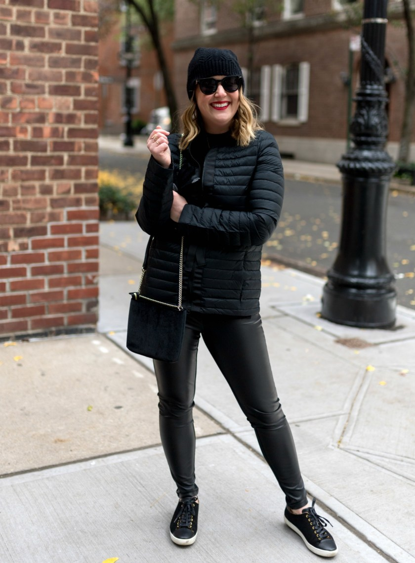 Faux Leather Leggings Styled for the Weekend I wit & whimsy