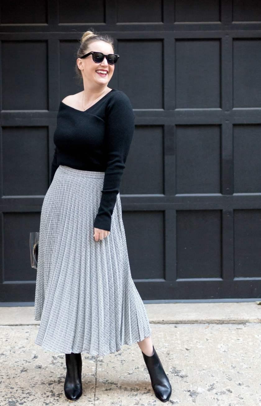 Pleated Midi Skirt I wit & whimsy