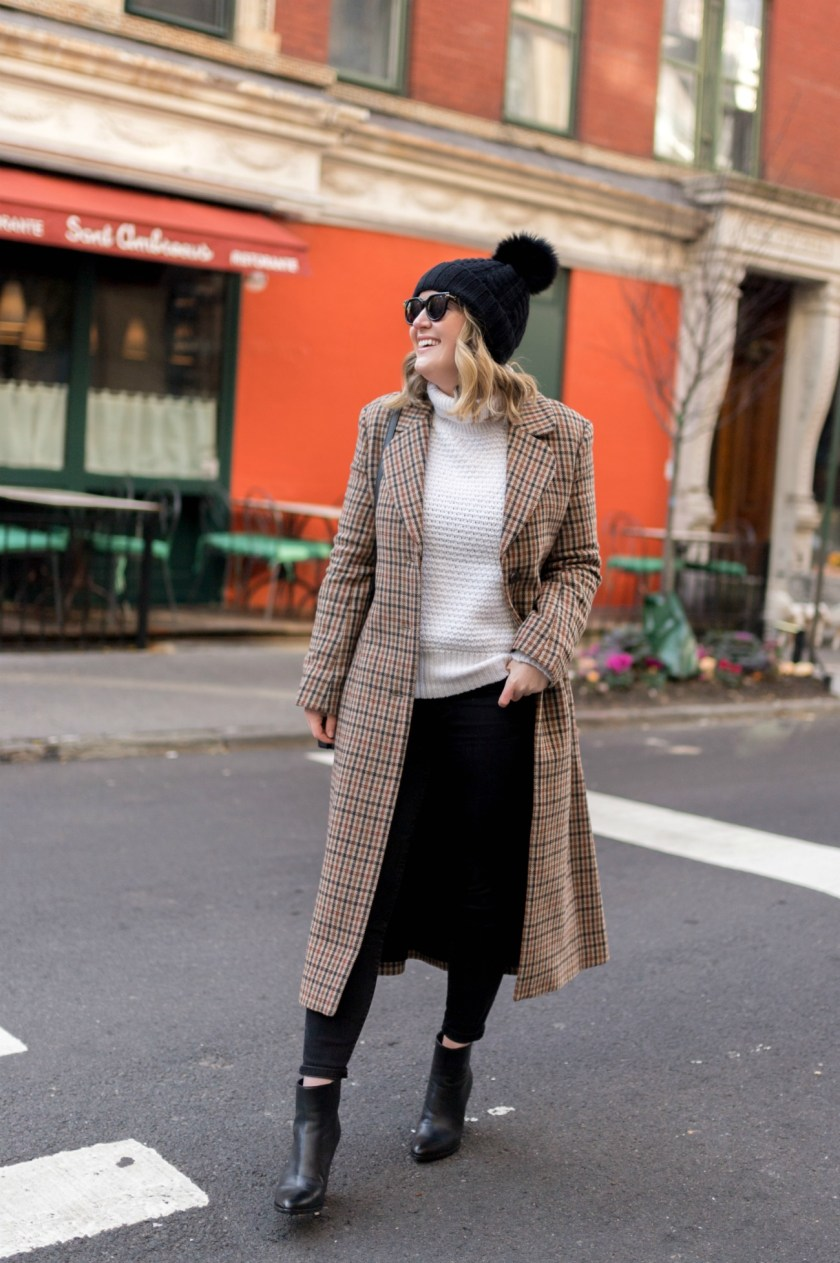 Plaid Coat and Booties I wit & whimsy