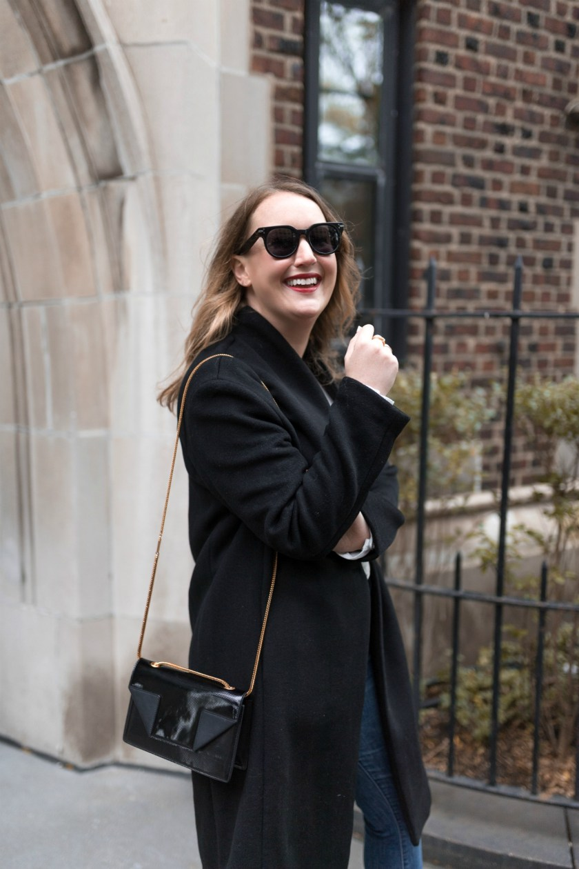 Navy Coat from saks Off Fifth