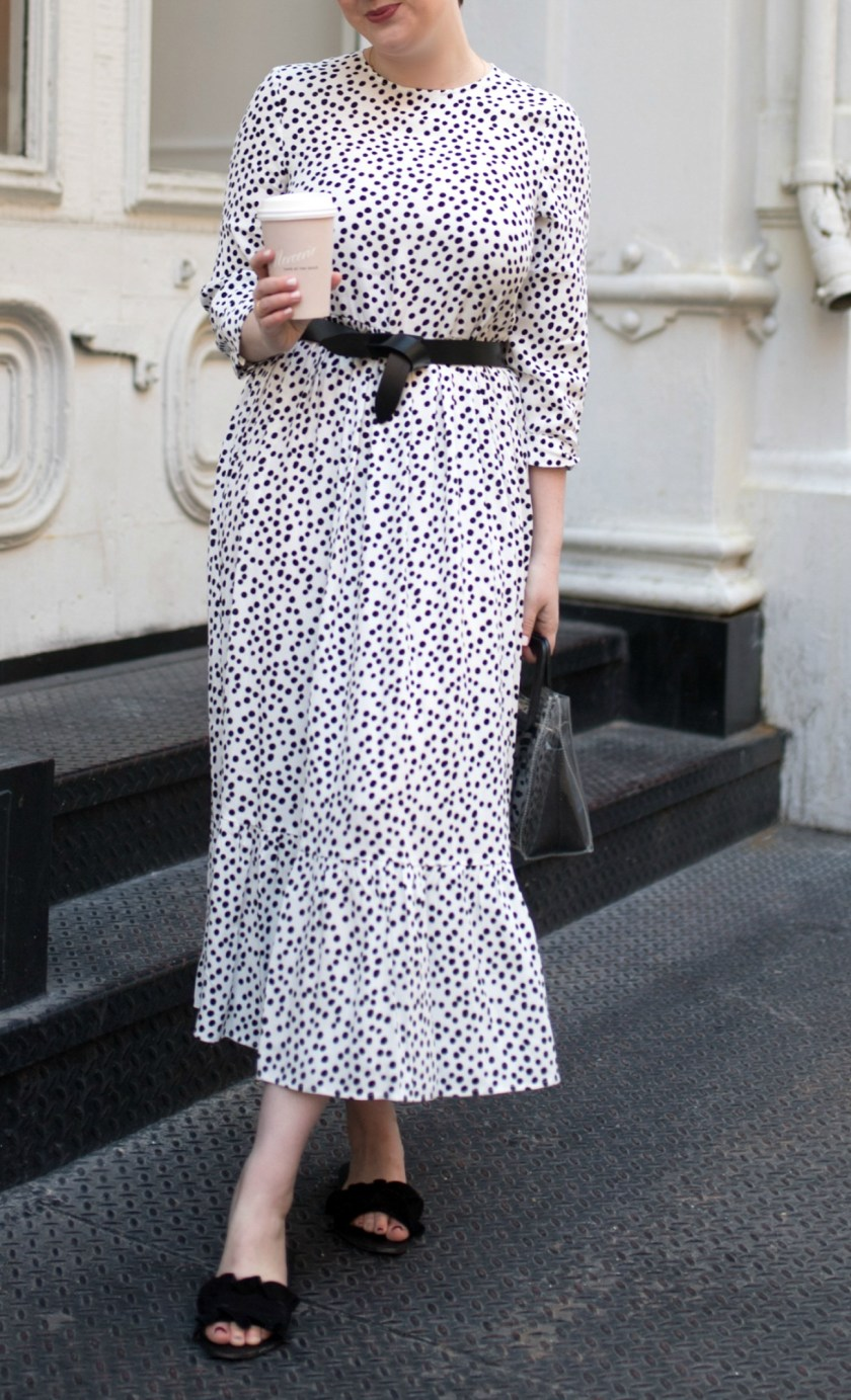 Polka Dot Belted Dress