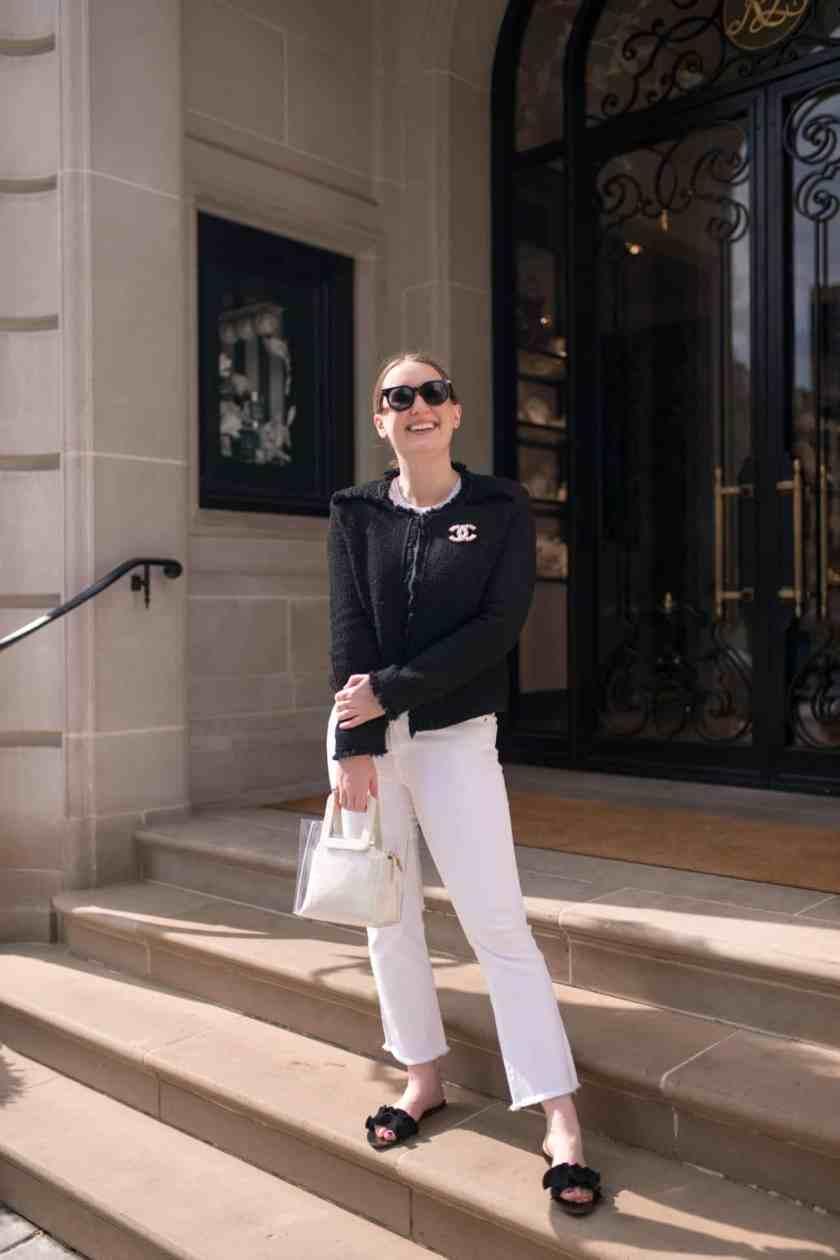 White Denim and Tweed Jacket I wit & whimsy