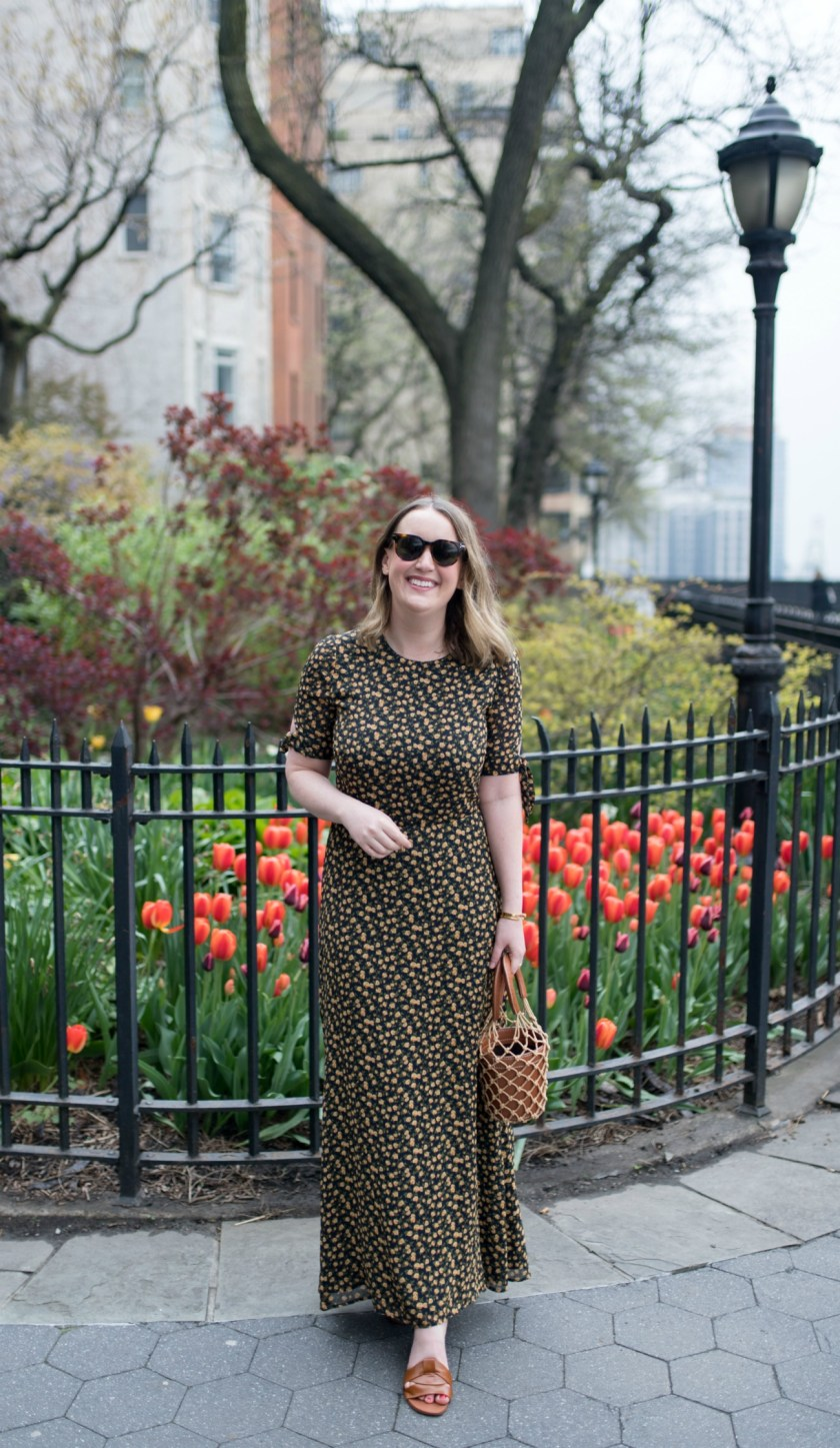 Floral Long Dress I wit & whimsy