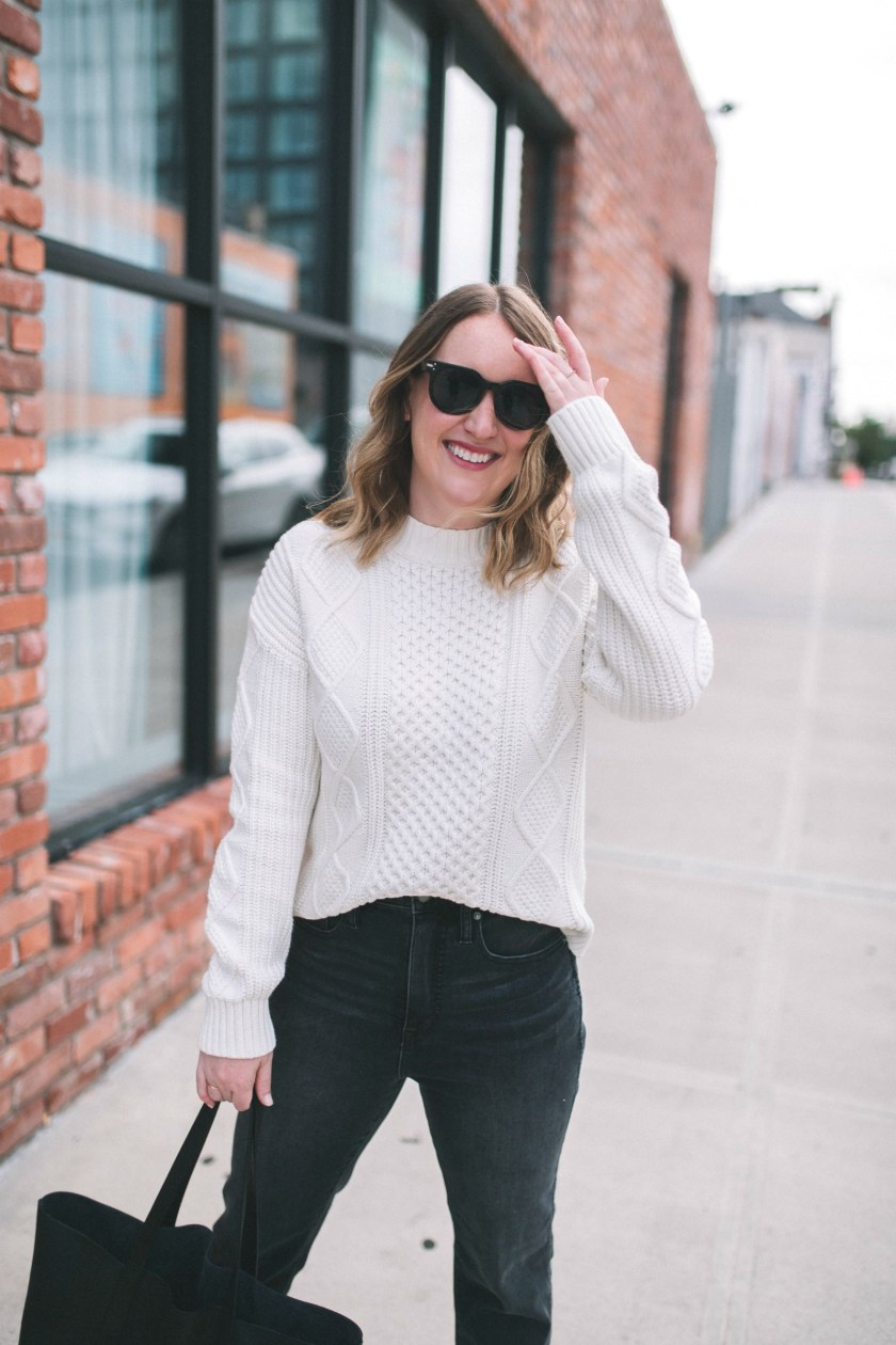 Classic Cable Knit Sweater I wit & whimsy
