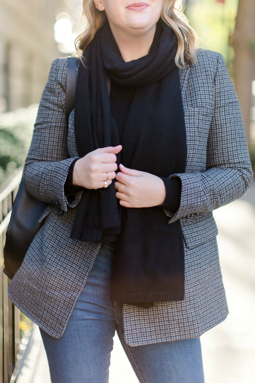 Everlane Cashmere Scarf and Blazer I wit & whimsy