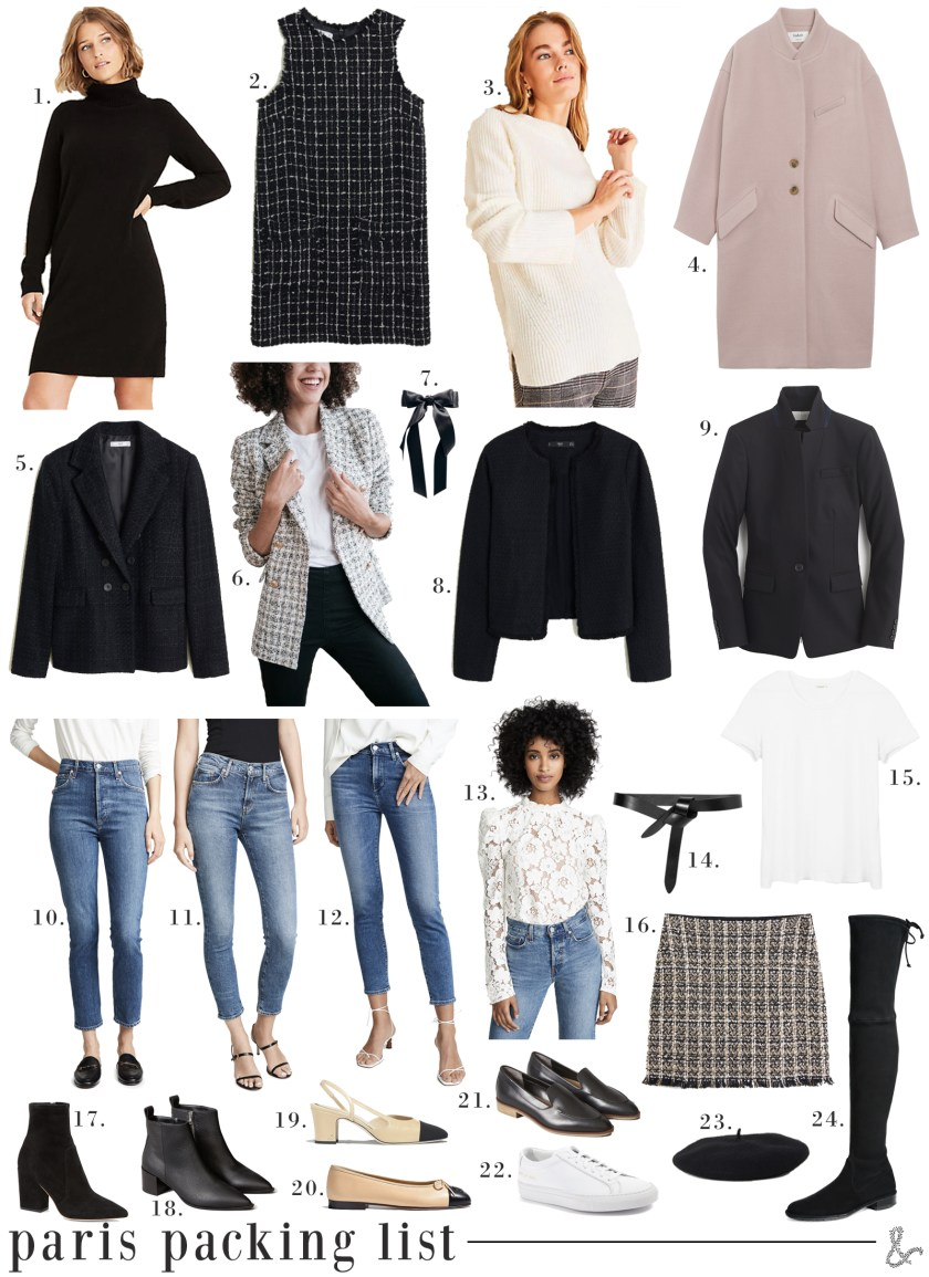 Paris Packing List for Fall I wit & whimsy