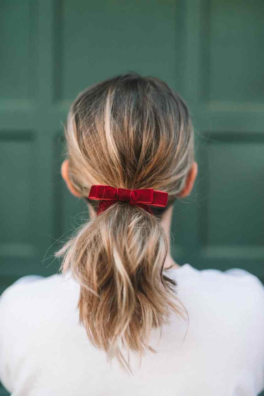 Velvet Hair Bow I wit & whimsy