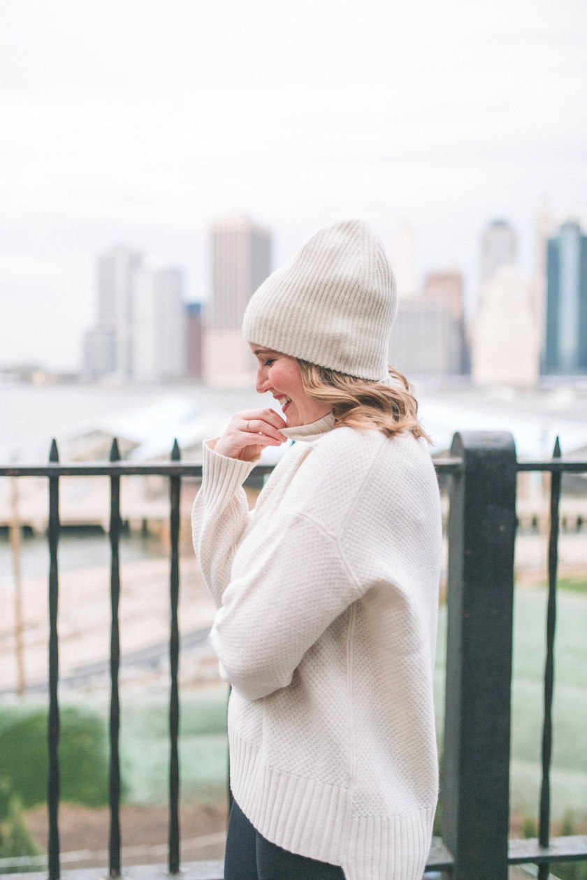 Everlane Beanie and Turtleneck I wit & whimsy