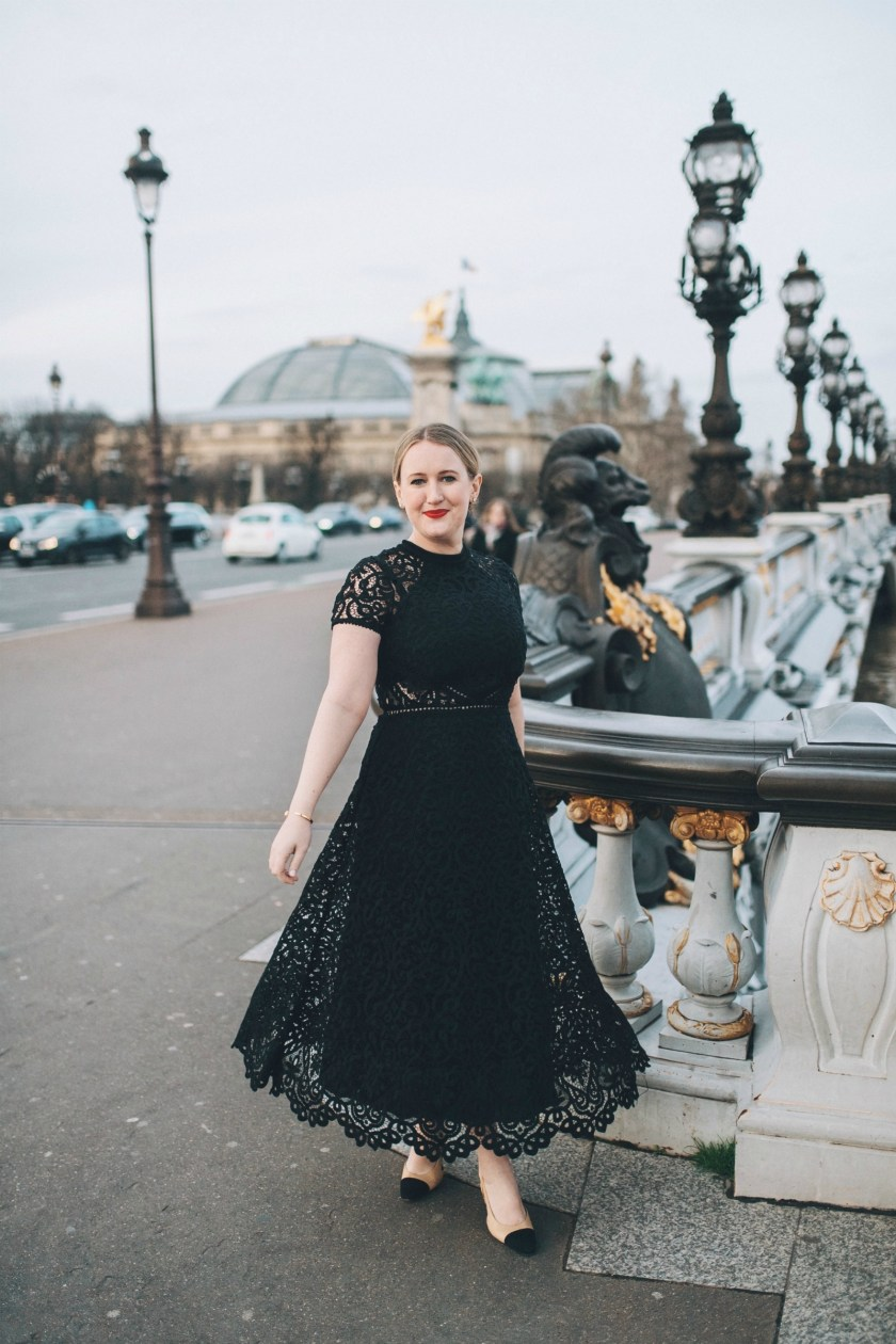 Black Lace Dress in Paris I wit & whimsy