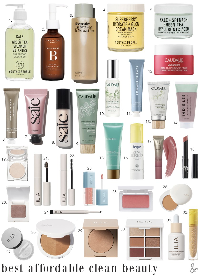 Affordable Clean Beauty Products I wit & whimsy