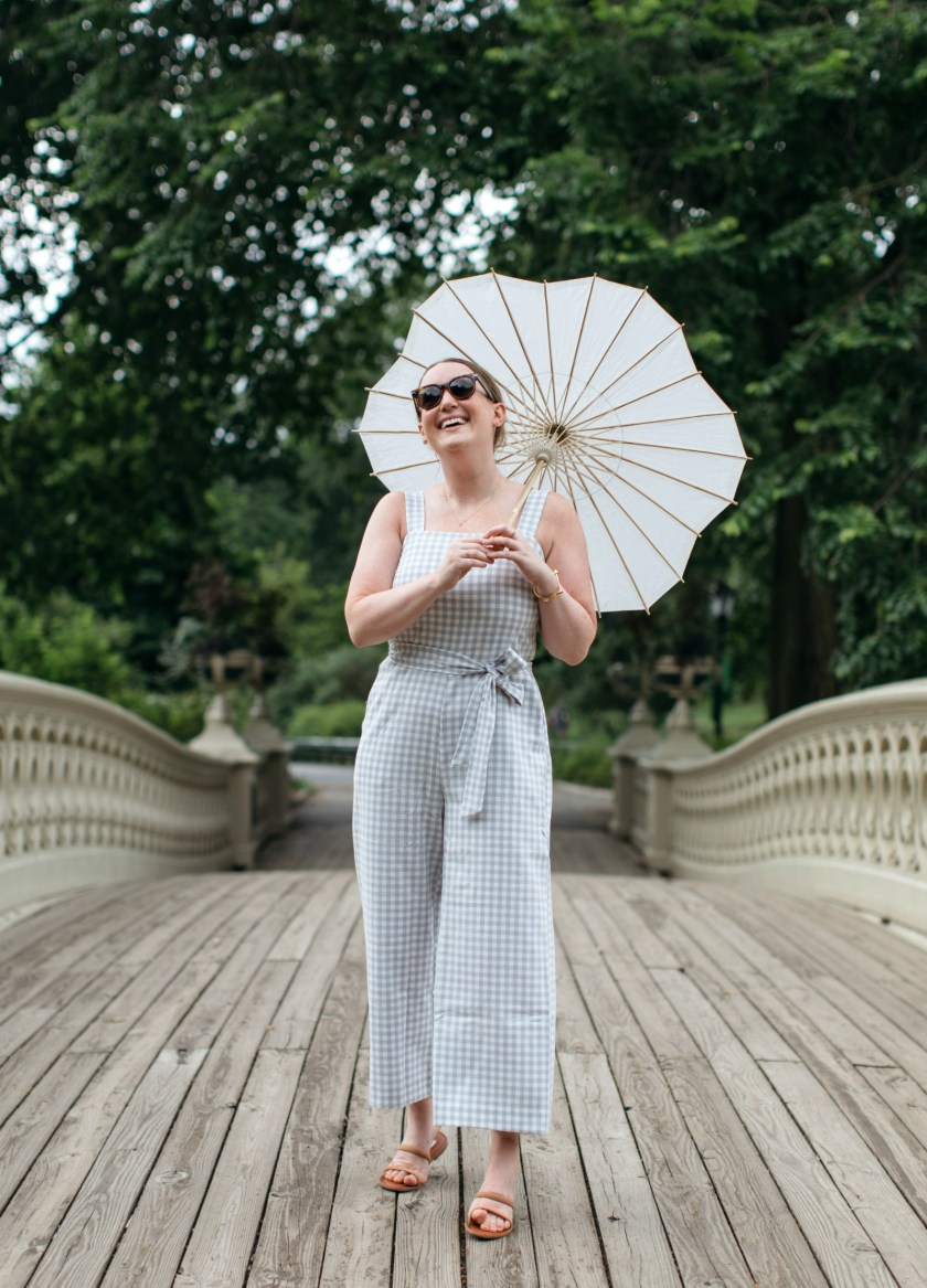 Ann Taylor Summer Gingham Jumpsuit I wit & whimsy