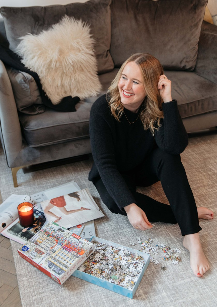 Cozy Winter Capsule Wardrobe | Fun Holiday Activities At Home | Eileen Fisher Cozy Home Outfit I wit & whimsy