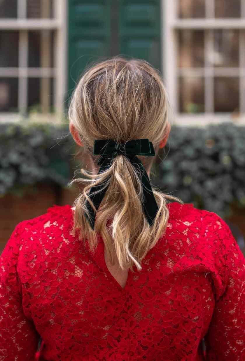 black bow hairtie