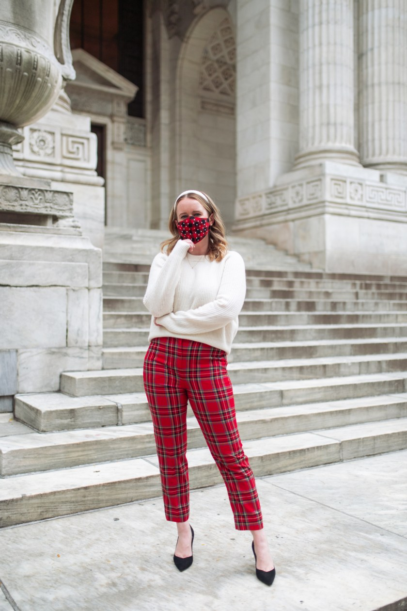 Plaid Pants Holiday Outfit I wit & whimsy