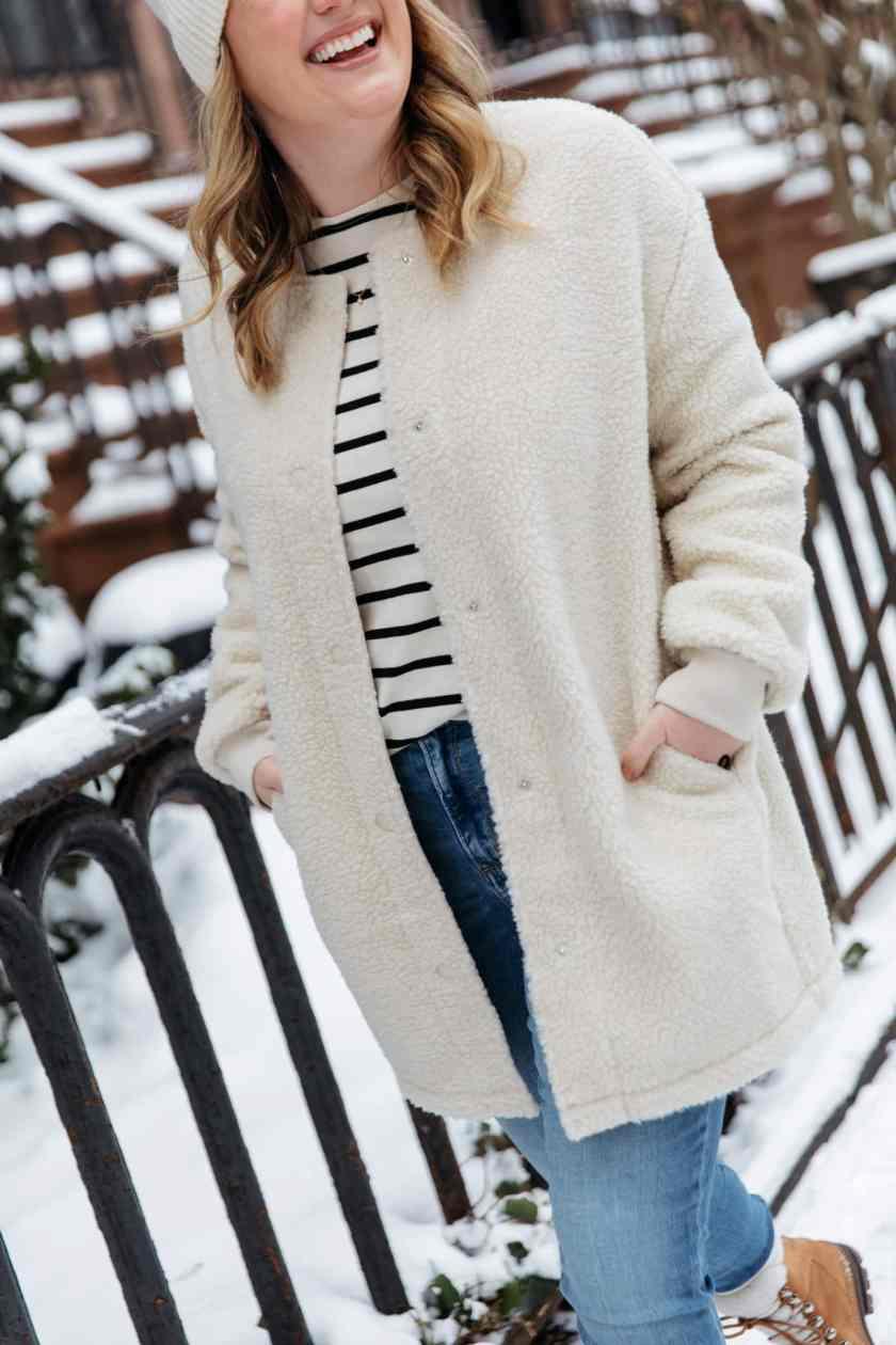 Snow Days - Sherpa Shacket Coat from Amazon