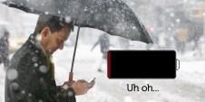 iphone se v zimě vybíjí