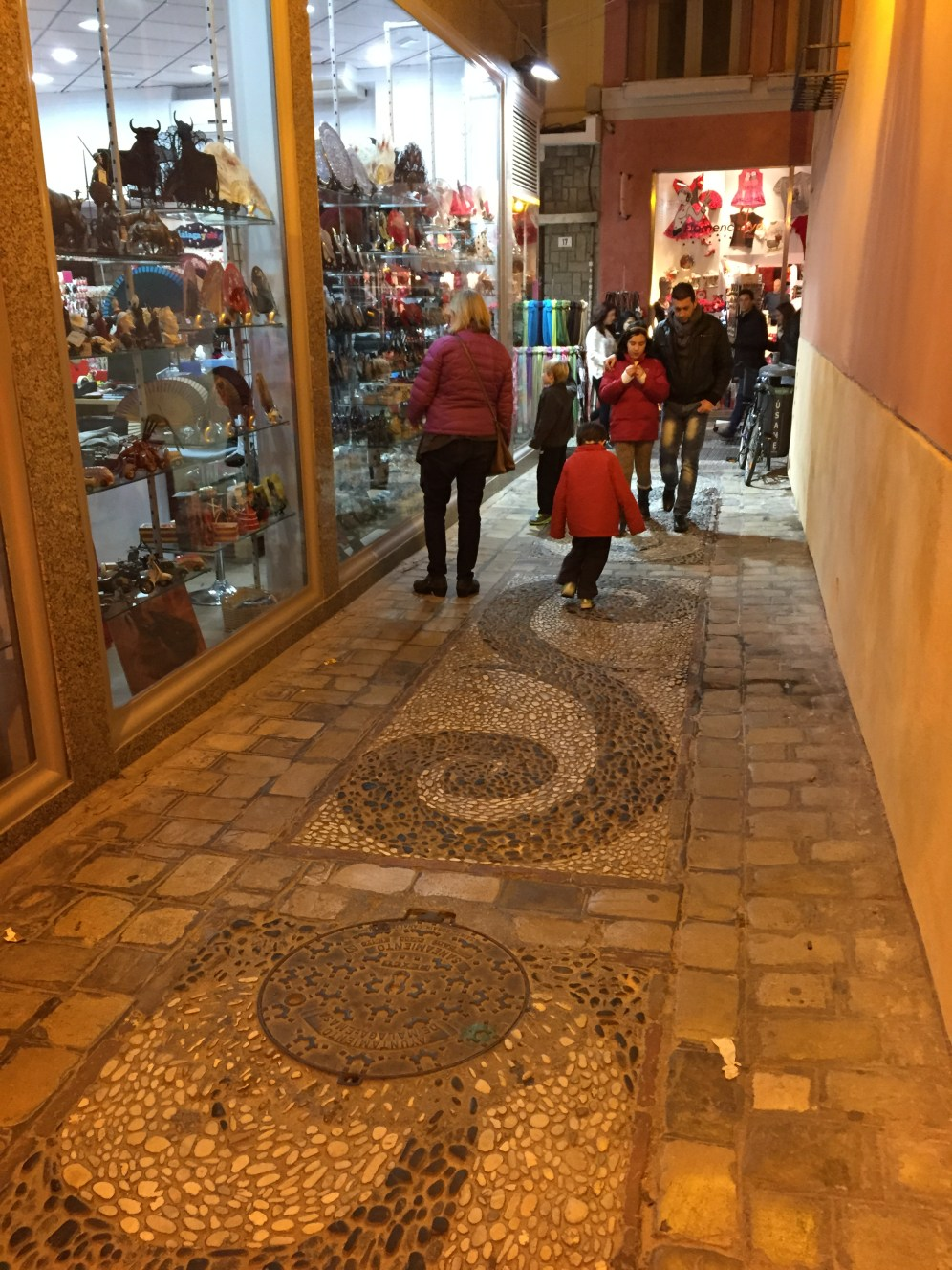 Love the cobblestone streets and mosaics!