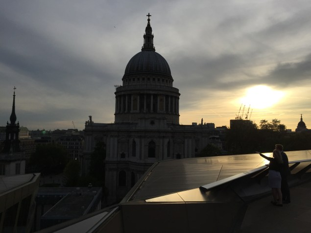 View of St Paul's from atop a swanky rooftop bar